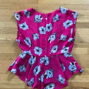 Forever 21 Tops - Forever 21 Floral Peplum Top